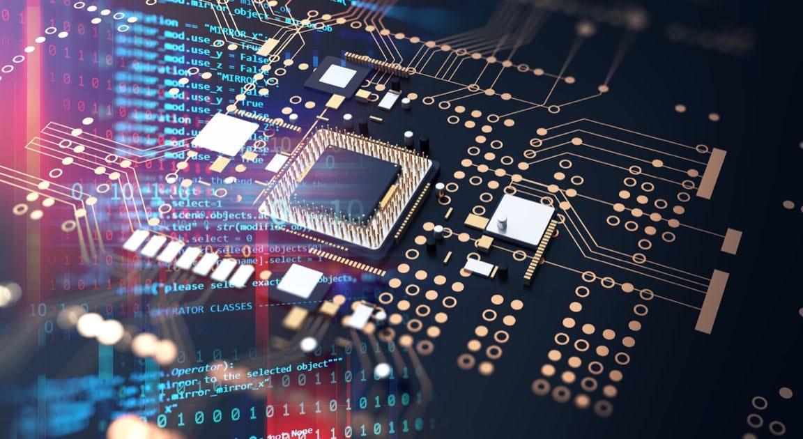 Futuristic Circuit Board